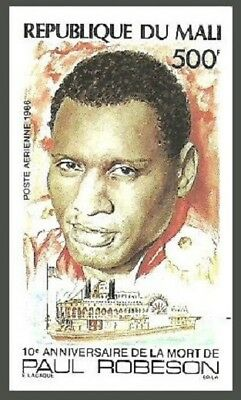 Mali 1986 Films Cinema Music Showboat Paul Robeson Ships Imperf Mnh