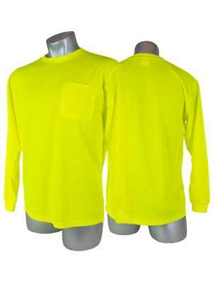 NEW - High Visibility Yellow Safety Long Sleeve Shirt