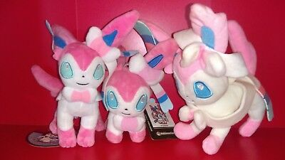 Lot de 3 Peluches Pokemon Nymphali (Non Officiel)