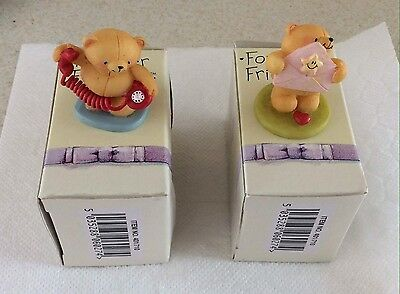 2 Forever Friends Teddies Mini Figures New In Boxes From Hallmark Cards