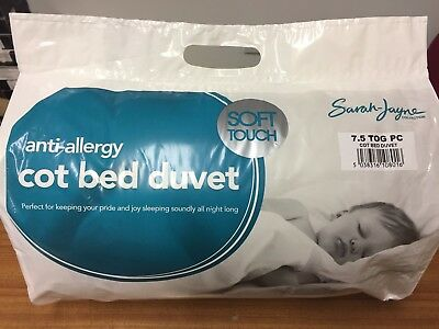 Sarah Jayne Anti-Allergy Soft Touch Cot Bed Duvet/Quilt, 4.5, 7.5 or 9 Tog