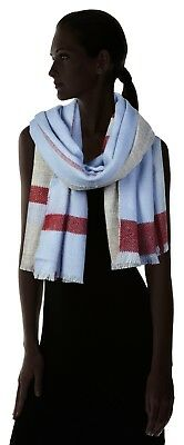 Esprit Women's Scarf Lasting Quality 100% Polyacrylic Style Multicoloured Blue