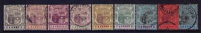 MAURITIUS Stamps Scott# 92-94;97-100;104;108 Wmk 3,Die I Used/MH,CV:$9