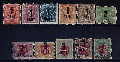 Lithuania 1922 stamps, Sc# 123//34 MH/Used 11 values CV:$99.25