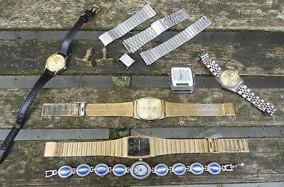 Vintage Watches Mixed Lot - Spares Or Repairs - Joblot