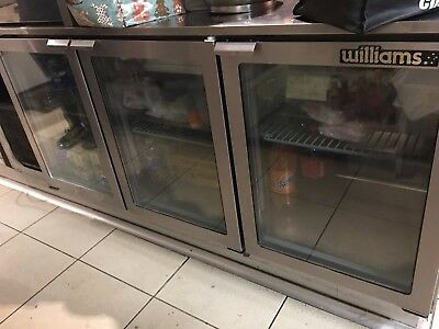 Williams commercial under bar counter 3 door refrigerator Model : Boronia HBR3U