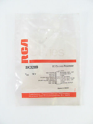 RCA SK3289 - Chroma Processor - 16-Pin DIP IC, NOS
