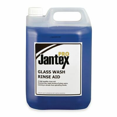 Jantex Pro Glasswasher Rinse Aid 5Ltr Kitchen Restaurant Cleaning Supply Cleaner