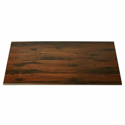 Werzalit Rectangular Table Top Antique Oak 1100mm Indoors Outdoors