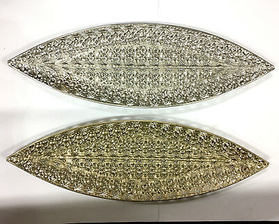 New Leaf Shape Tray Metal Moroccan Tray Fruit Tray Decorative Plate Home Décor