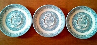 Lot of 3pcs Melmac by Rainboware saucers blue willow pattern 5.75""