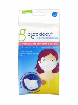 Orgakiddy Masque Anti-Projection Adulte 5 Masques