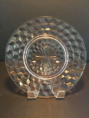 "Jeannette ""Cube / Cubist - Pink Depression Glass"" 8"" Luncheon Plate (Multiple)"