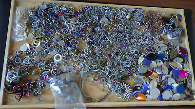 Lot 1.25kg Chainmaille rings scales bronze aluminium +
