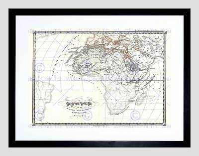 1855 Spruner Map Africa To Arab Conquests In 7Th Century Framed Print B12X2194