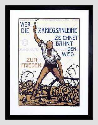 War First World Germany Loan Vintage Retro Advert Framed Art Print B12X1888