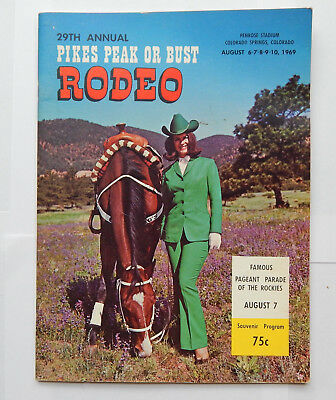 29th Annual Pikes Peak or Bust Rodeo Program (1969)