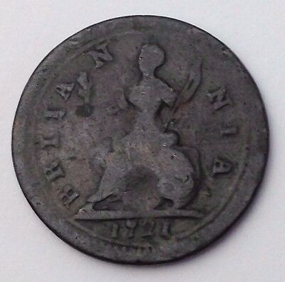 Dated : 1721 - One Farthing - Coin - King George I - Great Britain