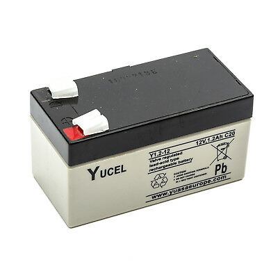 Yuasa NP1.2-12 Yucel Y1.2-12 Sealed Lead Acid Battery 12V 1.2Ah Rechargeable