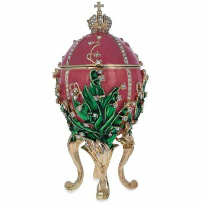 1898 Lily of the Valley Faberge Egg 6.25""