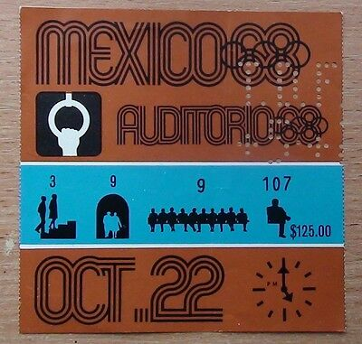 Tickets Olympic Games 1968, Mexico, gymnastics