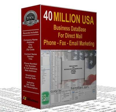40 MILLION U.S.A Business Database Mailing Email database List and Phone Numbers