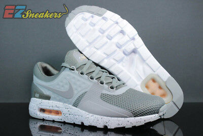 58d85b9408 NIKE AIR MAX Zero Premium SZ 9 Tumbled Wolf Grey White 881982-001 ...