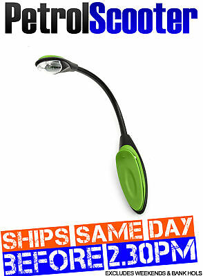 LED Travel Light Reading Lamp Green Flex Clip On Torch Bright Night Book Camping