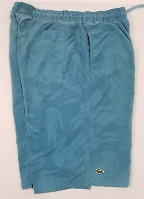 de19958bd0e0c Men LACOSTE Blue Mesh Lined Board Swim Short 30