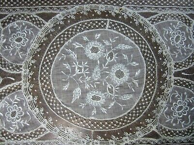 """Antique Normandy lace runner 42"""" x 16"""""""