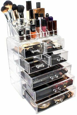 Sorbus Acrylic Cosmetics Makeup and Hold Jewelry Drawer Storage Case Display Set