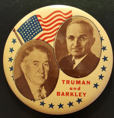 Harry Truman and Alben Barkley Campaign Button from 1948