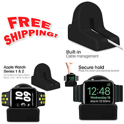 Night Stand Holder for Apple Watch, iWatch Charge Docking Station, Black