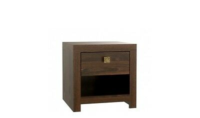 Modern Bedside Table / Cabinet / Drawers / Nightstand / Unit DARK BROWN **New**