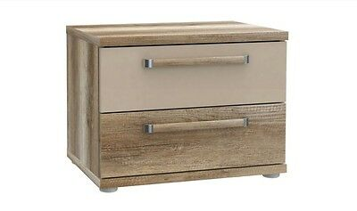 Modern Bedside Table / Cabinet / Drawers / Nightstand / Unit OAK ANTIQUE EFFECT