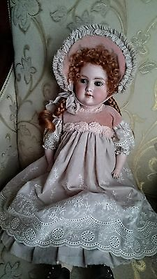 Dress and bonnet for antique doll 22 inch