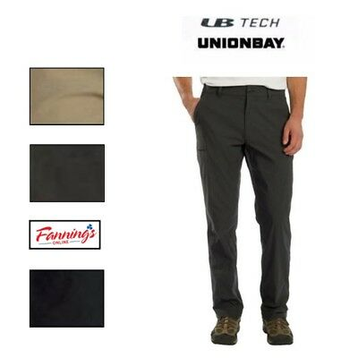 New UB Tech Men's Comfort Waist Chino Pants Stretch Water Repellent Quick Dry