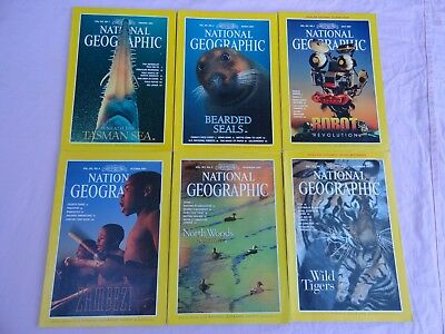 6x National Geographic Magazines - 1997 - English monthly