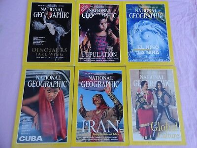 6x National Geographic Magazines - 1998 & 1999 - English monthly