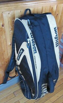 Large WILSON K factor Pro Tour - BackPack - very good condition - 8 pack