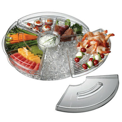 Serroni Fresco On Ice Rotating Serving Platter for Appetizers Dishwasher Safe