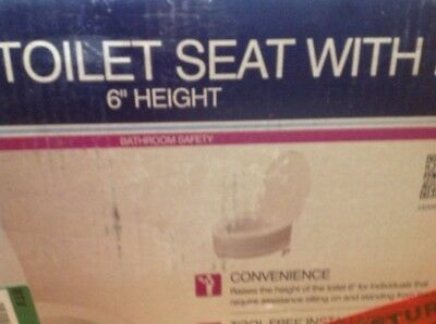 Drive Raised Toilet Seat With Lid Model: 12067