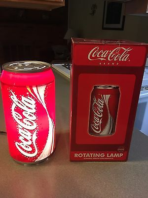 COCA COLA Rotating Lamp (Tested and works great)