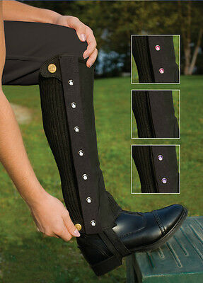 NEW Perri's Bling Combo Half Chaps - CHILDS - Brown - Small & Large