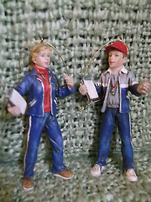 """Pair of  4.5"""" Polyresin Sport Team Coach Ornaments with whistles etc."""