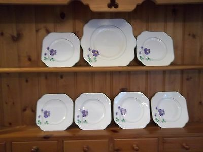 Vale China Bread And Butter Plate And 6 Tea Plates