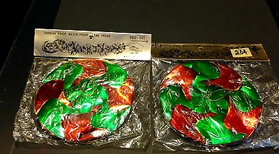 """Lot of 2 Vintage Christmas Garland Decoration 9ft long """"Pull-Out and Hang"""" NIP"""