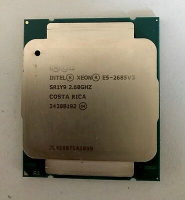 INTEL XEON 12 CORE PROCESSOR E5-2685 V3 2.6GHZ 30MB Cpu 9.6 GT/S Prozessor
