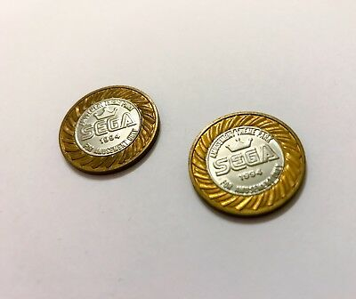 SEGA Sonic The Hedgehog Adventure  Arcade Amusement theme Park Token Coin X 2