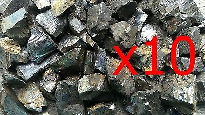 x10 Small Elite Shungite Rough Stones 1 gram each  - miracle healing stone